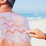 photo of a man wearing suncream