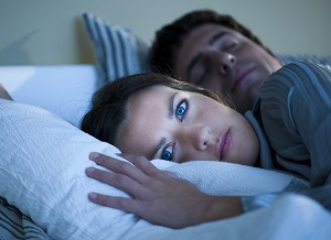 photo of a woman with insomnia