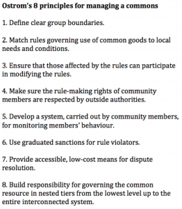 Elinor Ostrom's principles of sustainabilty